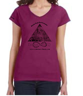 woman's berry v-neck